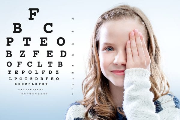 2020 Vision - Girl with eye exam